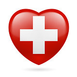 Heart icon of Switzerland