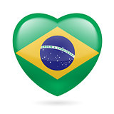 Heart icon of Brazil