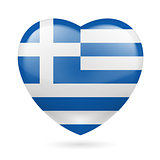 Heart icon of Greece