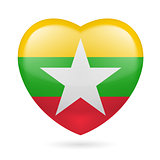 Heart icon of Myanmar