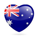 Heart icon of Australia