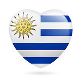 Heart icon of Uruguay