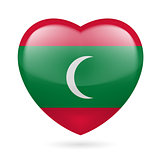 Heart icon of Maldives