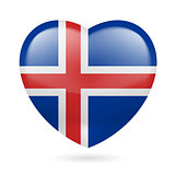 Heart icon of Iceland