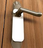 Doorknob White Tag