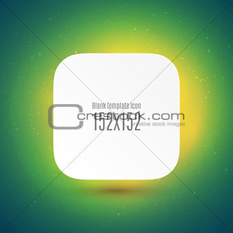 Blank Template Icon for your app and site.
