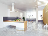 flooding kitchen