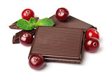 Sweet cranberries and chocolate