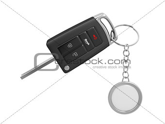 Car key with keyring