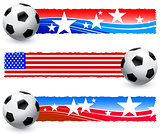 Soccer (football) Ball with American Banners