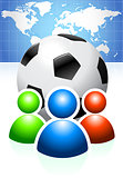 Soccer Ball with User Group and World Map