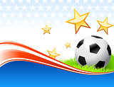 Soccer Ball on Abstract Patriotic Background