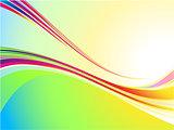 Cool color wave background