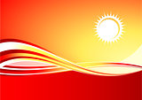 Red hot sun background