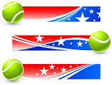Tennis Balls with Patriotic U.S. Banner