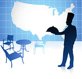 Chef with United States map