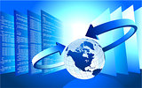 Business Globe wInternet background