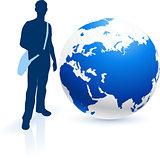Traveler with Globe