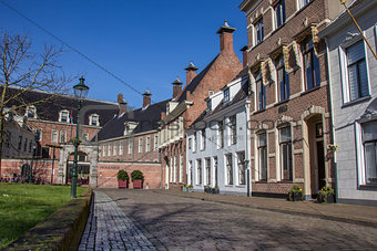 Old houses at the Martinihof in Groningen