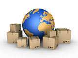 Shipment of parcels all over the world