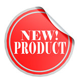 Red circle label new product