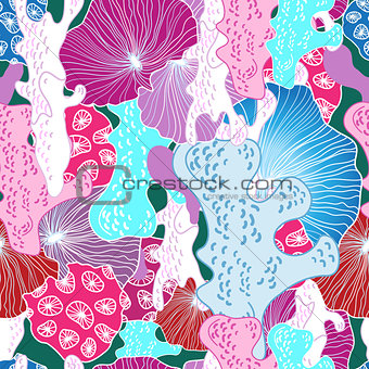 bright pattern of coral