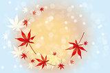 autumn leaves background - Stock Illustration