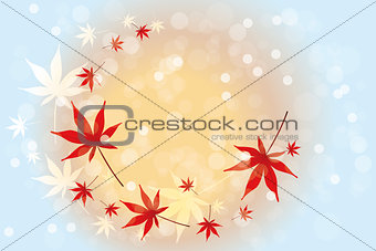autumn leaves background - Stock Illustration
