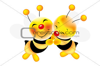 Hug of bees - Stock Illustration