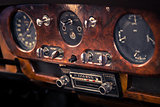 Retro interior vintage car