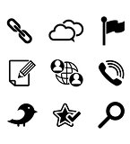 Multimedia and technology icons set