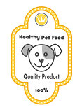 Healthy Pet Food label