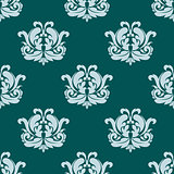 Pretty seamless damask style pattern in blue