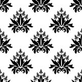 Floral seamless pattern with decorative flowers