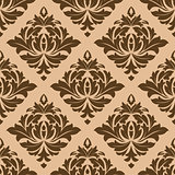 Beige and brown arabesque motifs