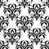 Scrolling floral design elements