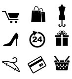 Retail and shopping icons