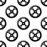 Pinions and gears seamless pattern