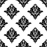 Black and white damask seamless pattern