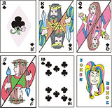 playing cards - complect of clubs