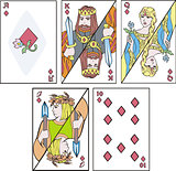 playing cards - complect of diamonds
