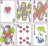 playing cards - complect of hearts