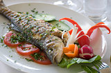 seabass with vegetables