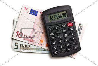 calculator and euro currency