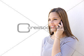 Happy woman calling on the smart phone