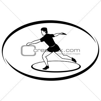 Athletics. Discus throwing