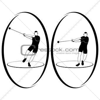 Athletics. Hammer throwing