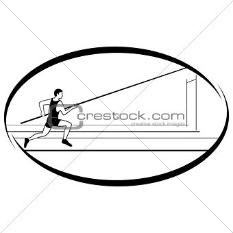 Athletics. Pole vaulting-1