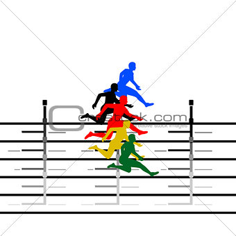 Athletics. Running hurdles-1