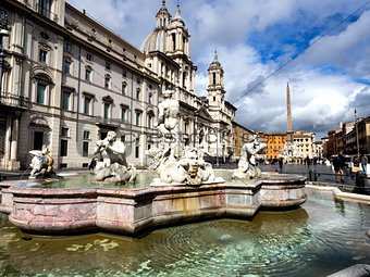 Poseidon fountain, Navona square Rome